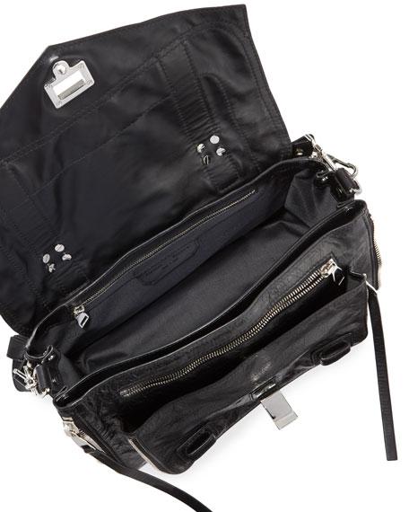PS1+ Medium Leather Satchel Bag, Black