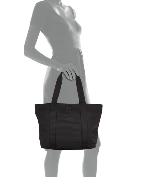Quinn Large Zip-Top Nylon Tote Bag