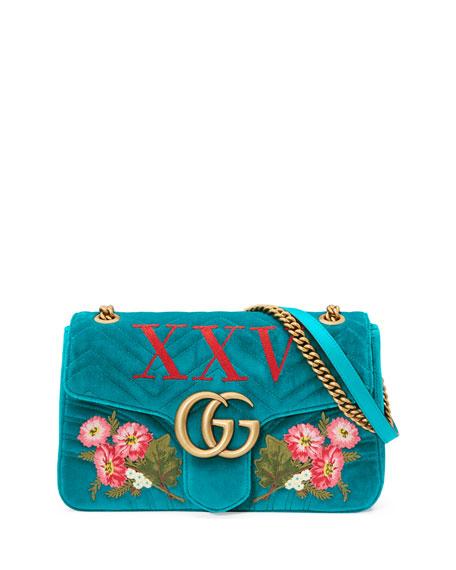 Gucci 110th Anniversary GG Marmont Small XXV Velvet
