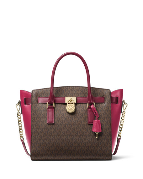 MICHAEL Michael Kors Hamilton Large Colorblock Satchel Bag
