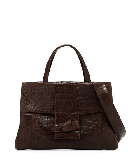 Nancy Gonzalez Large Origami Knot Top Handle Bag
