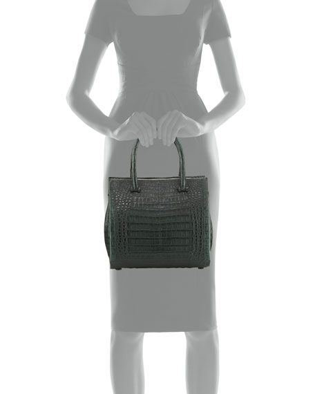 Medium Double-Handle Crocodile Tote Bag