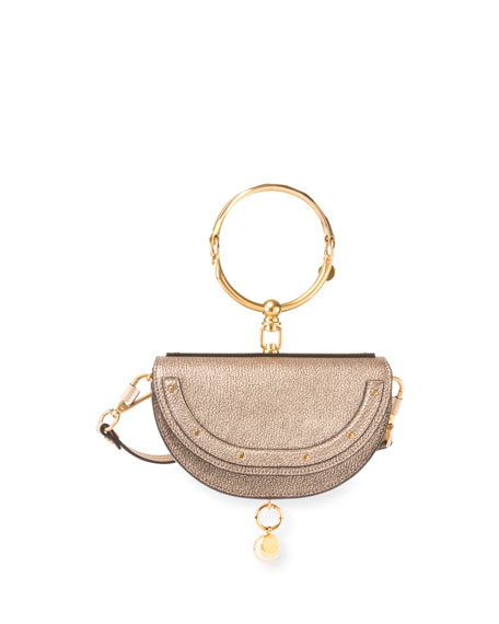 Chloe Nile Small Metallic Bracelet Minaudiere Bag