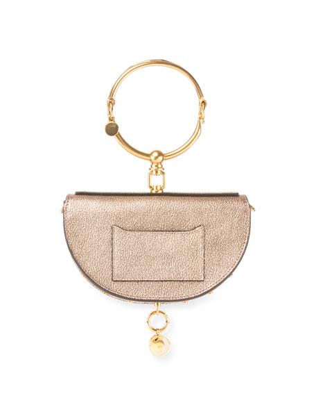 Nile Small Metallic Bracelet Minaudiere Bag