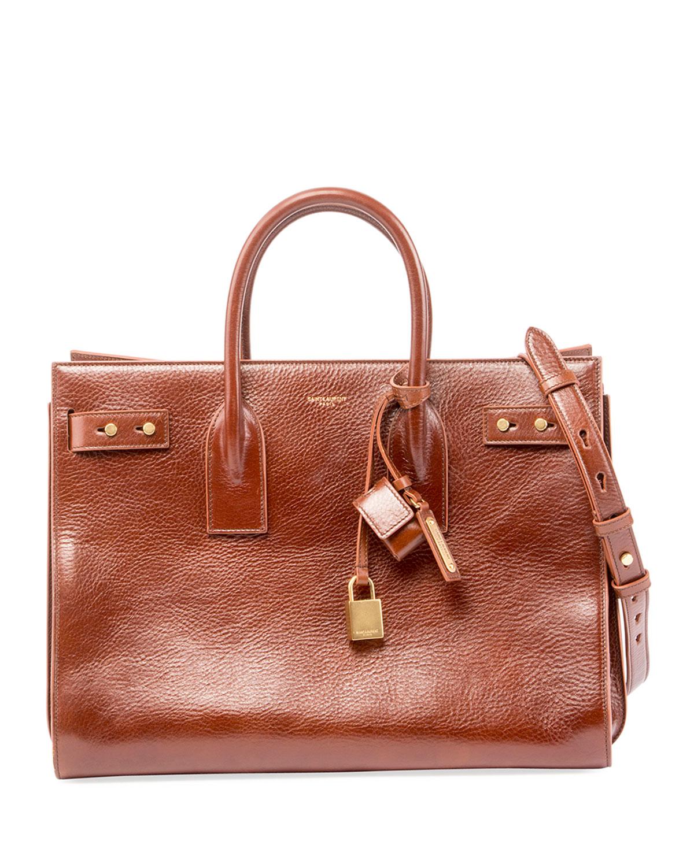 Saint Laurent Sac de Jour Medium Leather Tote Bag  0b046770f4ddb