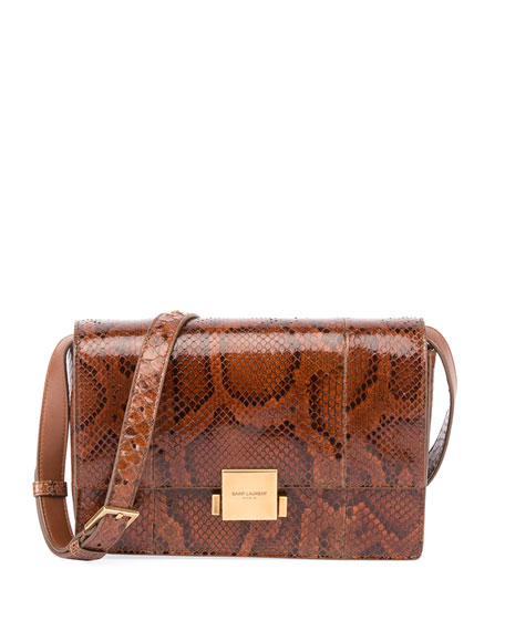 Bellechase Medium Python Flap-Top Bag