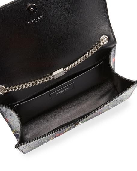 Kate Medium Monogram Snakeskin Crossbody Bag