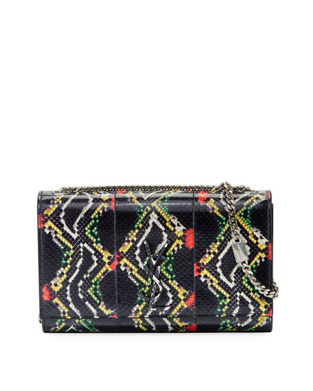 Saint Laurent Kate Medium Monogram Snakeskin Crossbody Bag