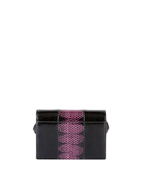 Kate Monogram Toy Two Tone Snakeskin Wallet on Strap