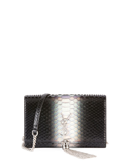 Saint Laurent Kate Small Degrade Python Wallet on