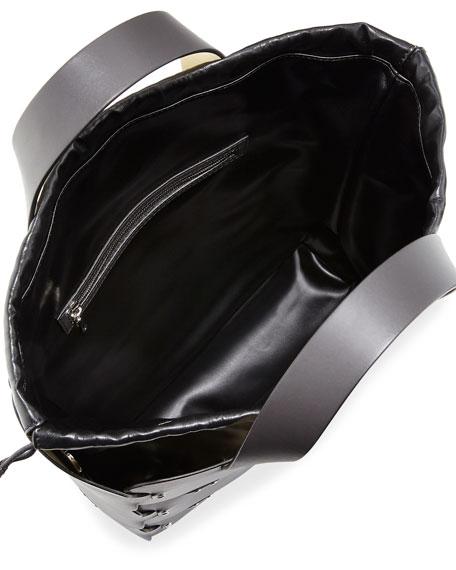 Paco Rabanne 16#01 Cabas Medium Studded Patchwork Tote Bag