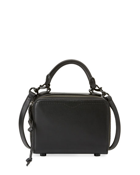 Rebecca Minkoff Leather Box Crossbody Bag, Black