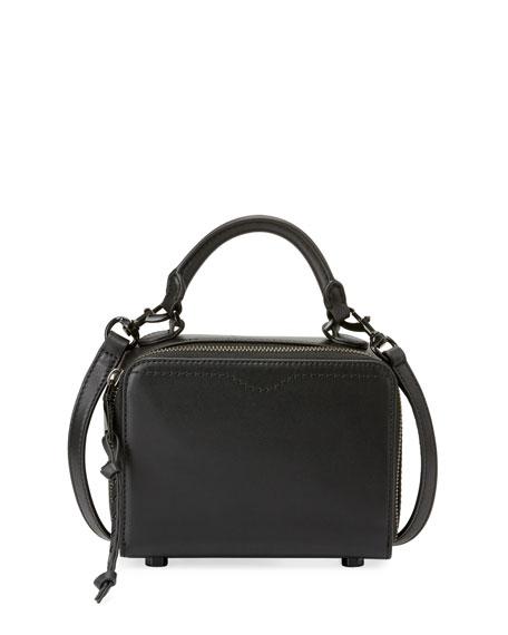Rebecca Minkoff Leather Box Crossbody Bag, Black