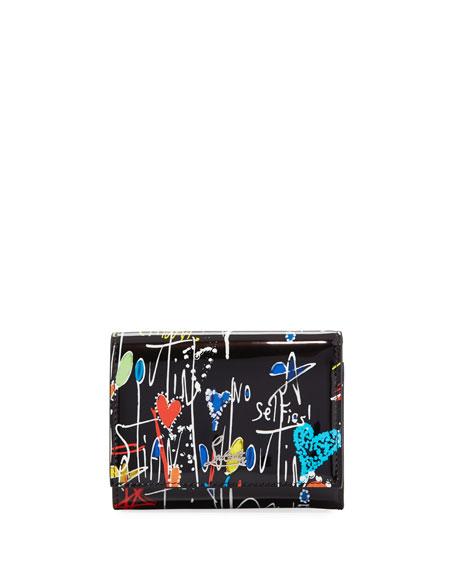 Christian Louboutin Boudoir Loubitag Patent Mini Wallet