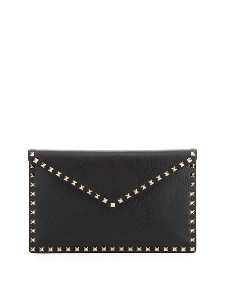 Womens Rockstud Large Flat Envelope Clutch Valentino 4hLcwAQG