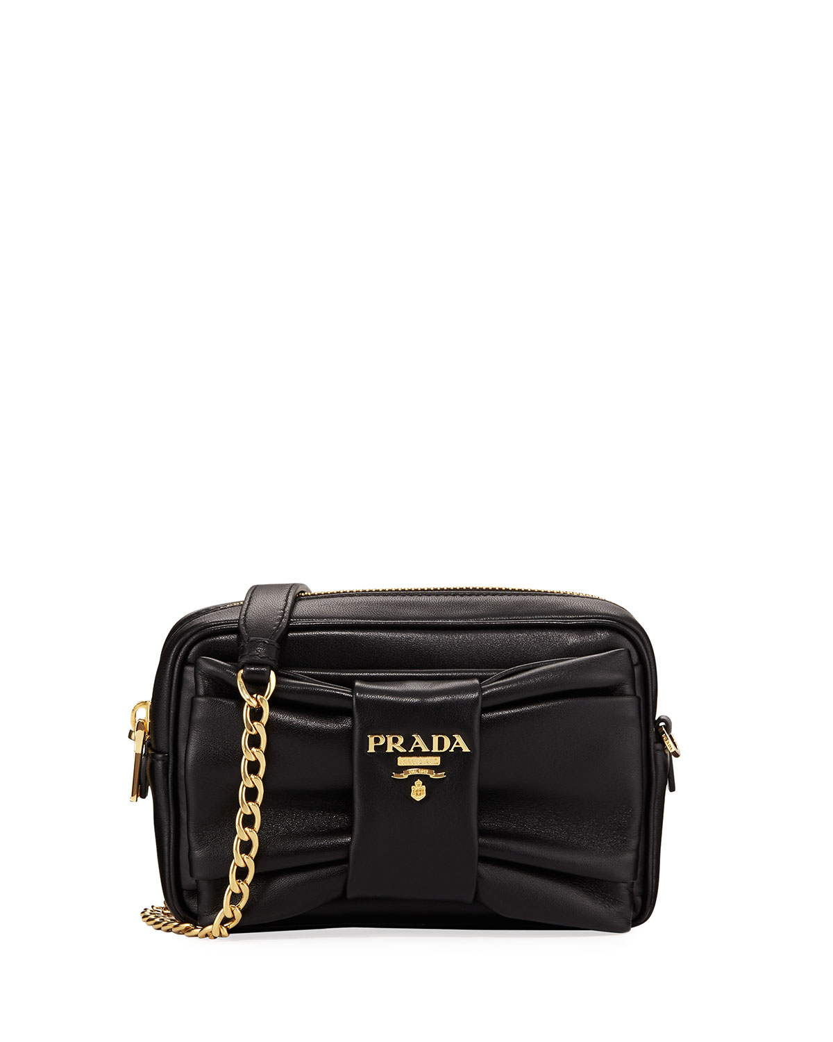 34782c09e5ff Prada Small Napa Leather Shoulder Bag | Neiman Marcus