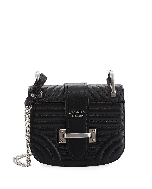 fb47c6fb23f5 Prada Impunture Cahier Quilted Small Shoulder Bag | Neiman Marcus