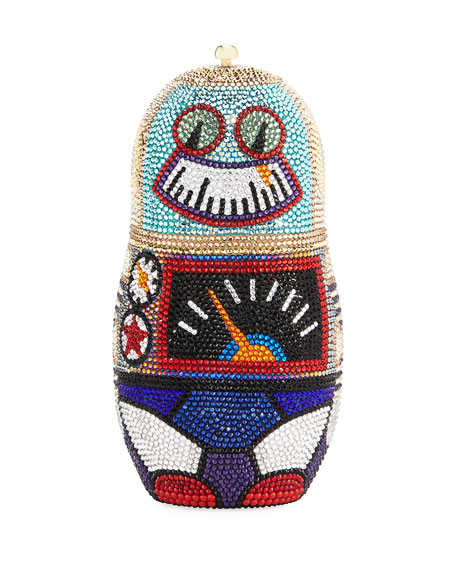 Judith Leiber Couture Robot Russian Doll Clutch Bag