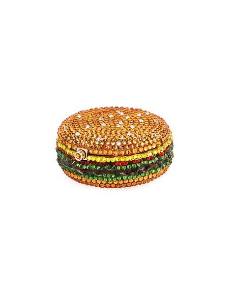 Judith Leiber Couture Hamburger Crystal Slider Pill Box