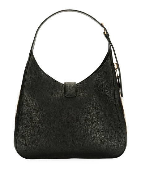 Tara Grain Lux Calf Shoulder Hobo Bag