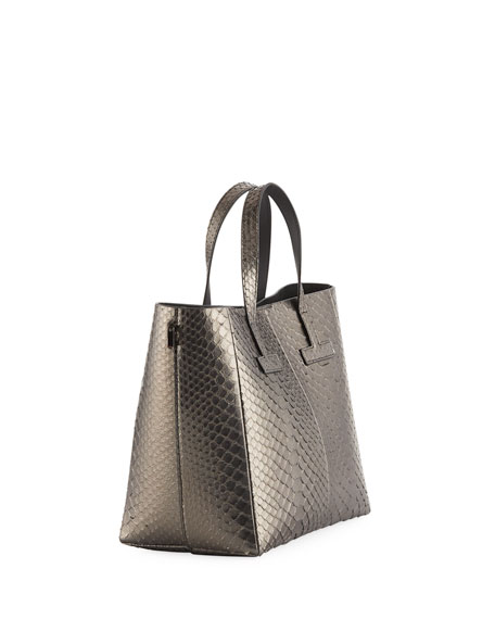 T Tote Mini Python Crossbody Bag