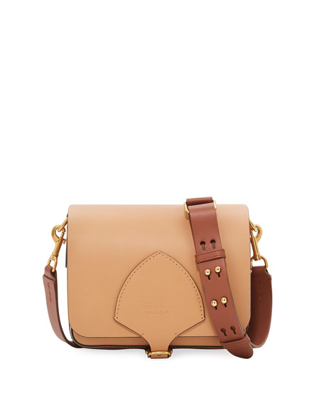 Burberry Square Smooth Leather Satchel Bag