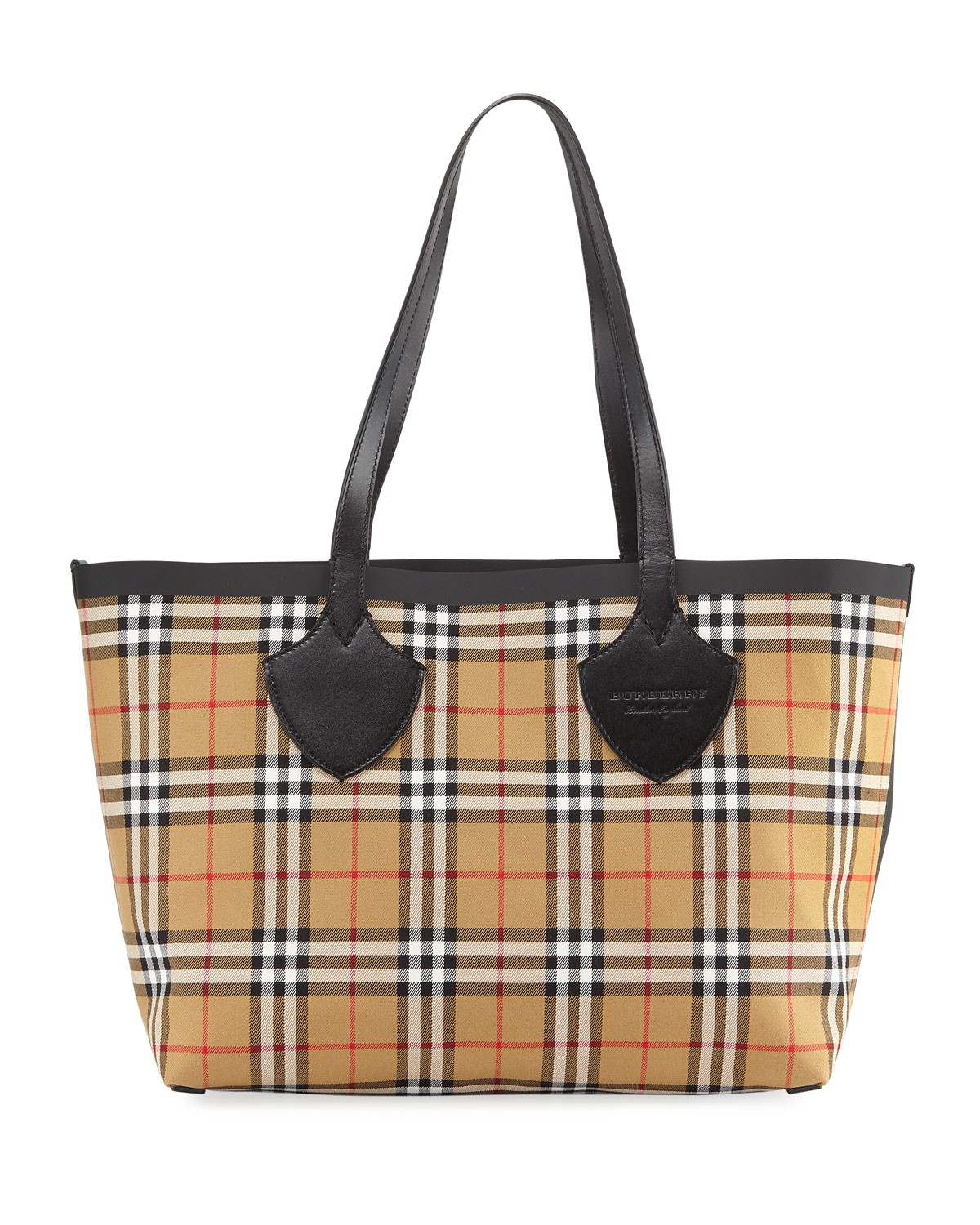 33d0e9a13a5 Burberry Medium Reversible Bonded Tartan Check Tote Bag | Neiman Marcus