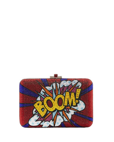 Boom Crystal Slim Slide Clutch Bag