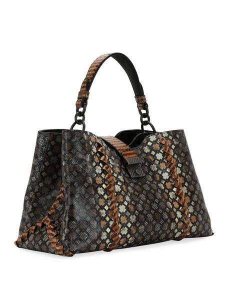 Napoli Byzantine Snakeskin Tote Bag