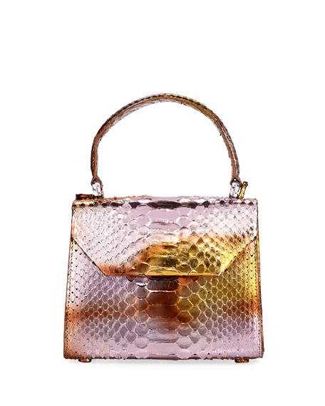 Nancy Gonzalez Python Small Top-Handle Crossbody Bag