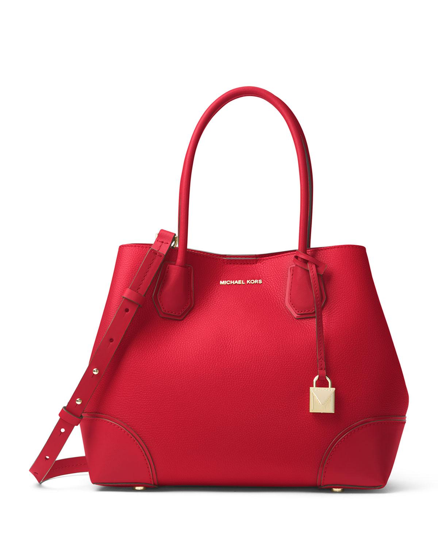 7e15d017747b MICHAEL Michael Kors Mercer Gallery Medium Leather Snap-Top Tote Bag ...