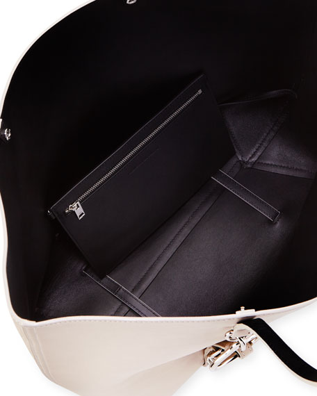 Ace Napa Leather Smooth Tote Bag, Smoke