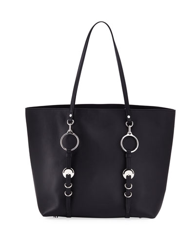 Ace Napa Leather Smooth Tote Bag, Black