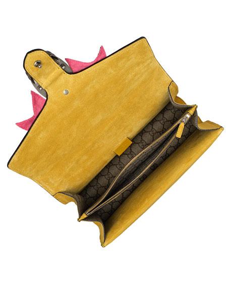 Dionysus Medium GG Supreme Canvas Shoulder Bag with Crystal Bow