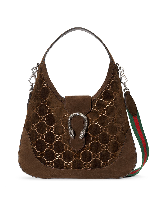 e8e7f868be3 Gucci Dionysus Medium Gg Velvet Hobo Bag Neiman Marcus. Brown Monogram  Gucci Leather ...