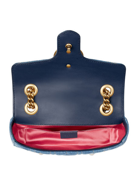 GG Marmont 2.0 Mini Denim Shoulder Bag