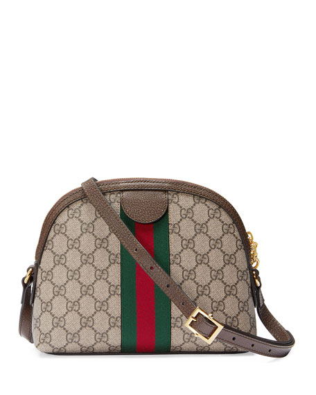 Image 3 of 4: Gucci Ophidia Linea Dragoni GG Supreme Canvas Small Shoulder Bag