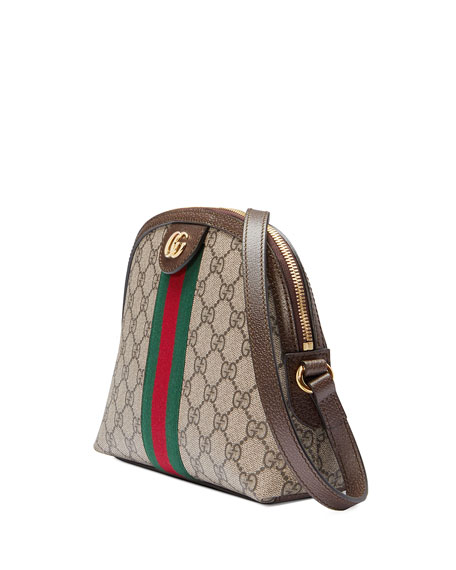Image 4 of 4: Gucci Ophidia Linea Dragoni GG Supreme Canvas Small Shoulder Bag