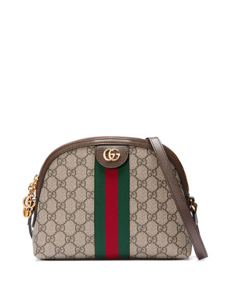 Image 1 of 4: Gucci Ophidia Linea Dragoni GG Supreme Canvas Small Shoulder Bag