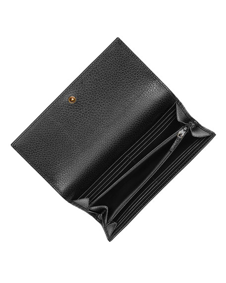 Linea Farfalla Leather Continental Wallet with Butterfly