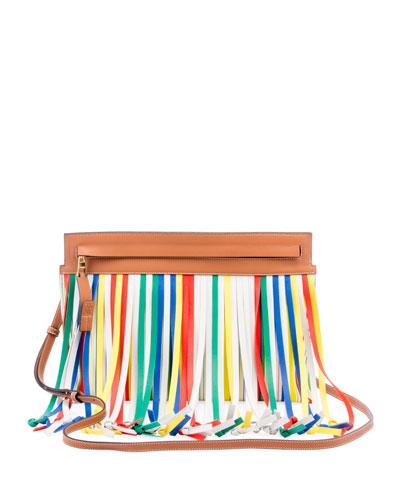 T Pouch Fringes Crossbody Bag