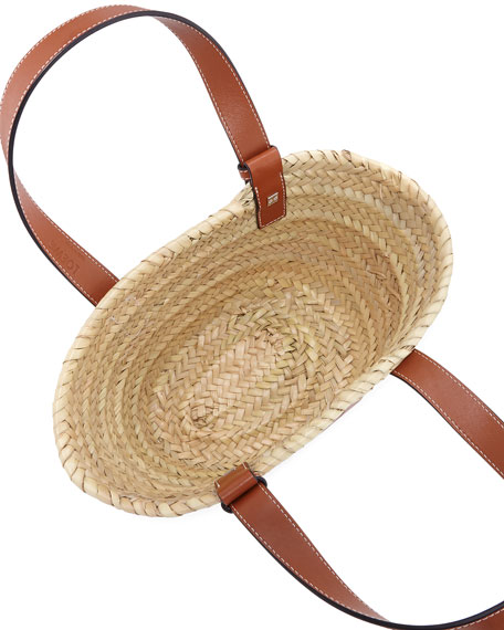 Image 2 of 2: Raffia Basket Tote Bag