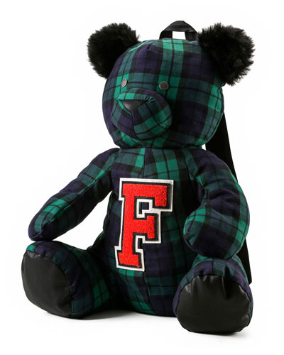 Mascot Bear Plaid Backpack
