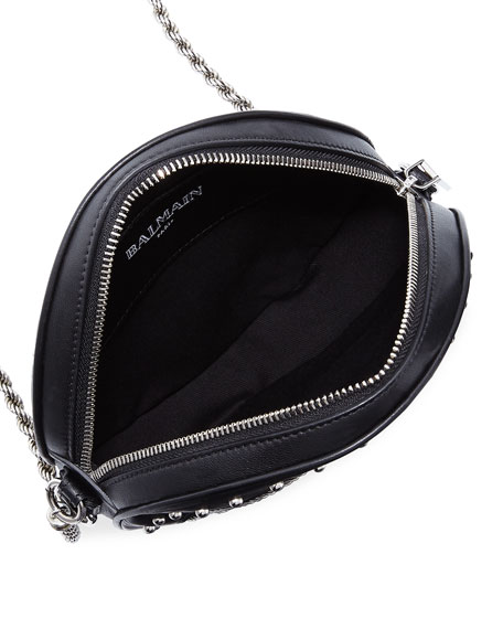 Disco Broderie Studded Crossbody Bag
