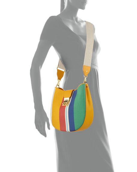 Patricia Rainbow Canvas Hobo Bag
