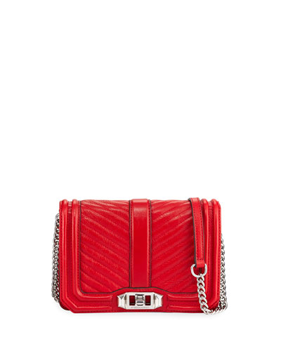 Love Small Chevron-Quilted Crossbody Bag