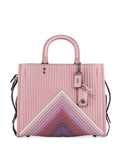Rogue Colorblock Quilted Tote Bag with Rivets