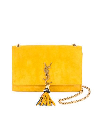 Kate Monogram Medium Suede Full-Flap Shoulder Bag