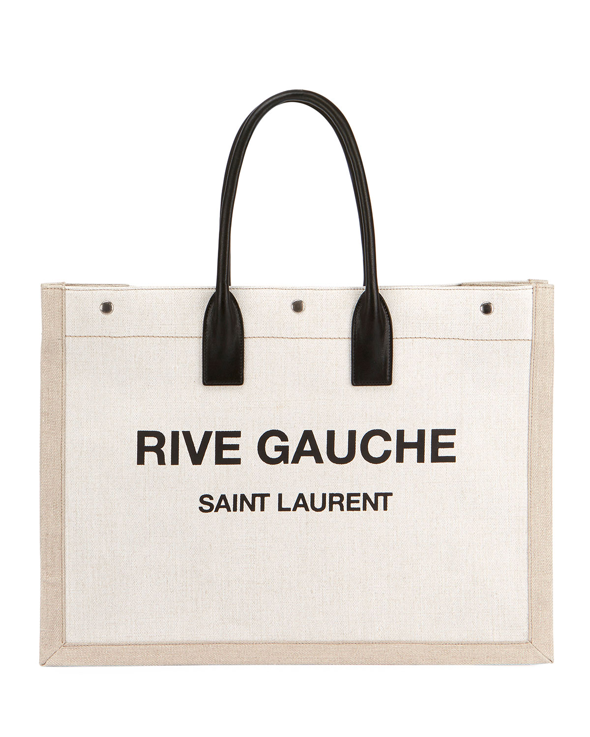 20d2939159 Saint Laurent Noe Cabas Large Rive Gauche Canvas Tote Bag