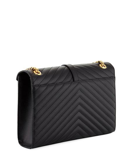 V-Flap Large Envelope Chain Shoulder Bag